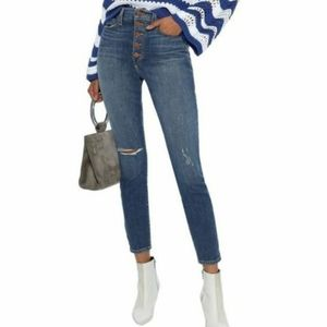 NWT ALICE + OLIVIA High Rise Skinny Jean Time Flys